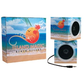 Cube Shape Portable Speakers with Your Logo