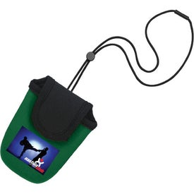 Imprinted Curly Electronic Holder with Lanyard