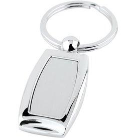 Logo Curved Metal Key Tag