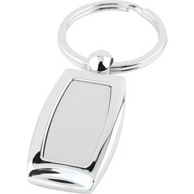 Curved Metal Key Tag for Your Organization
