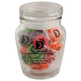 Curvy Printed Candy Jar (Candy Coated Chocolate Mints)