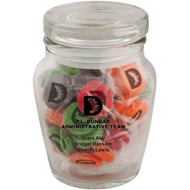 Curvy Printed Candy Jar with Your Logo