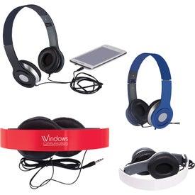 Custom Cushioned Folding Headphones