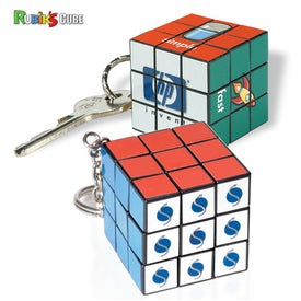 Micro Rubik's Cube Key Ring