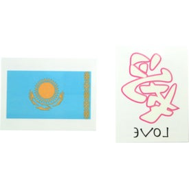 Promotional 1 1 2 x 2 temporary tattoo s with custom for Custom temporary tattoos no minimum