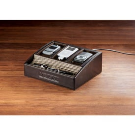 Printed Cutter and Buck American Classic Desktop Charger Display