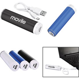 Cylinder Plastic Mobile Power Bank Charger