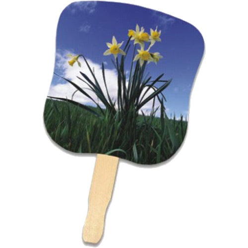 See Item Daffodils Hand Fan
