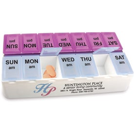 Imprinted Daily Reminder 7-Day Medicine Tray