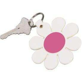 Daisy Key Tag with Your Slogan