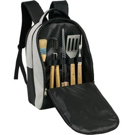 Logo Deluxe BBQ Backpack Set