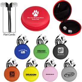 Deluxe Case with Black Premium Flat Ear Buds