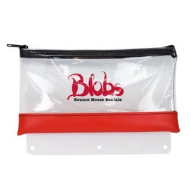 Deluxe Clear Pencil Pouch with Adapter