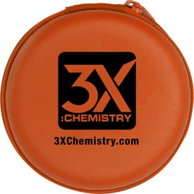Deluxe Ear Bud Case Imprinted with Your Logo