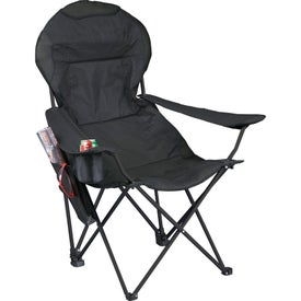 Logo Deluxe Folding Lounge Chair