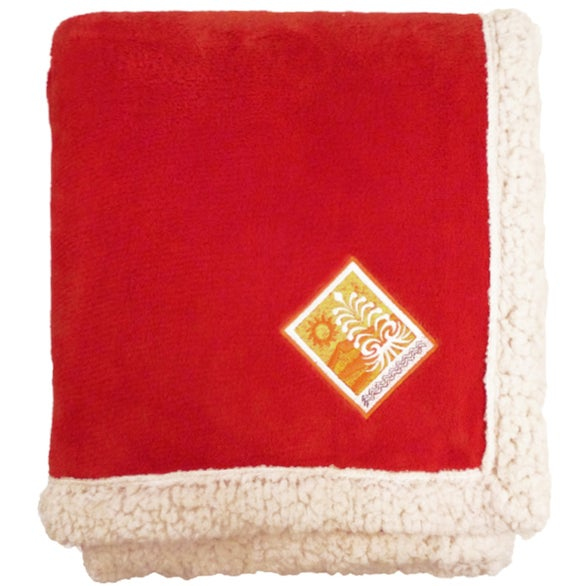 Red Deluxe Lambswool Lounge Throw