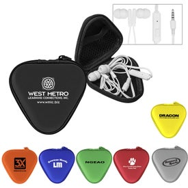 Deluxe Mic and Ear Buds in Triangle Case