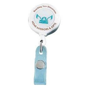 Deluxe Round with Slip On Clip Branded with Your Logo