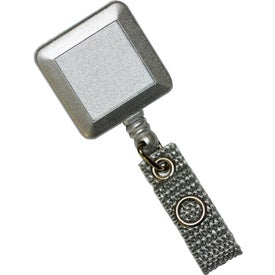 Deluxe Square Silver Tract with Alligator Clip for Your Organization