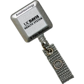 Deluxe Square Silver Tract with Alligator Clip