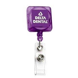 Monogrammed Deluxe Square Solid Color with Alligator Clip