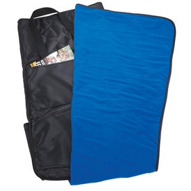 Deluxe Stadium Cushion Blanket Imprinted with Your Logo