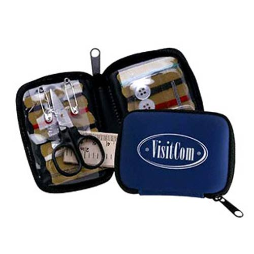 Blue Deluxe Travel Sewing Kit