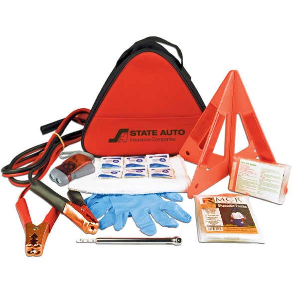 Red Deluxe Triangle Auto Safety Kit
