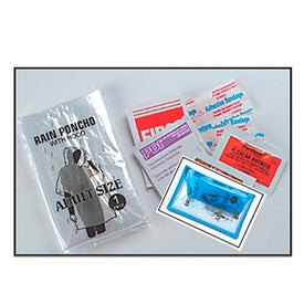Deluxe Vinyl Pouch With First Aid Kit