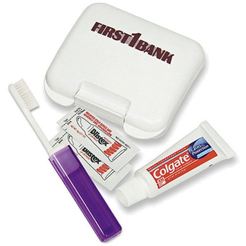 Dental Kit in a Plastic Pocket Tote