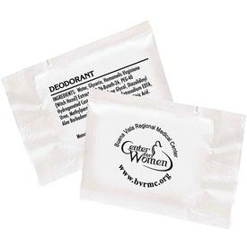 Imprinted Deodorant Towelette Packet