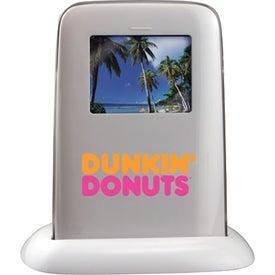Digital Frame Alarm Clock for Advertising