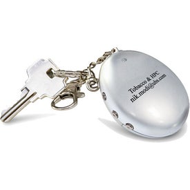 Monogrammed Digital Oval Keychain