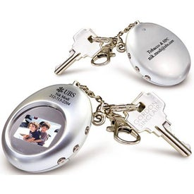 Digital Oval Keychain for Your Organization