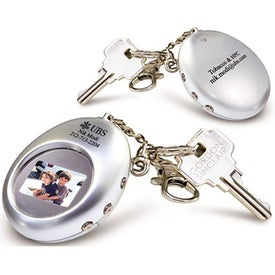 Digital Oval Keychain for Customization