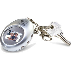 Digital Oval Keychain