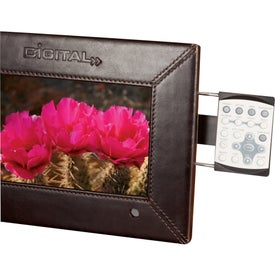 """7"""" Leather Digital Photo Frame with Your Slogan"""