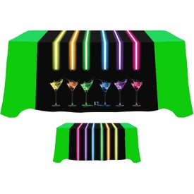 "Table Runner (Front, Top, Back, 90"" x 60"", Full Color Logo)"