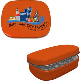 Hinged Mint Tin Branded with Your Logo