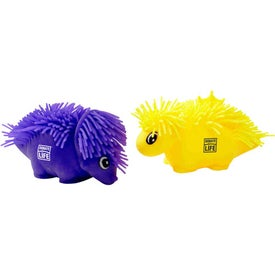 Dino Dude Puffer Pet with Your Slogan