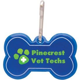 Company Dog Bone Reflective Collar Tag
