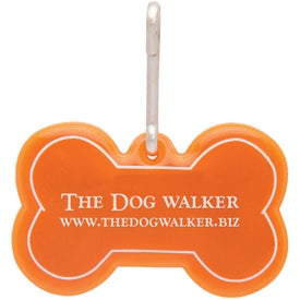 Dog Bone Reflective Collar Tag with Your Logo