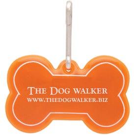 Dog Bone Reflective Collar Tag with Your Logo