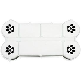 Dog Bone Pill Box with Your Slogan