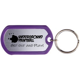 Advertising Dog Tag Keytag