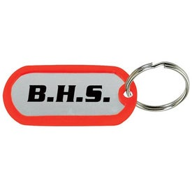 Imprinted Dog Tag Keytag