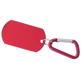Dog Tag on Carabiner for Marketing