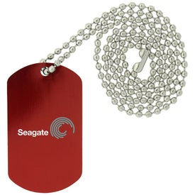 Printed Dog Tags with Beaded Necklace