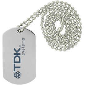 Monogrammed Dog Tags with Beaded Necklace