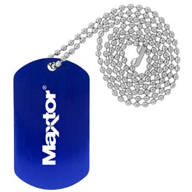 Dog Tags with Beaded Necklace for Your Organization